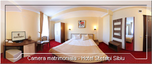 Tur Virtual - Camera matrimoniala Hotel Stefani Sibiu