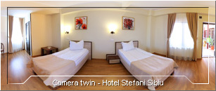Tur Virtual - Camera twin Hotel Stefani Sibiu
